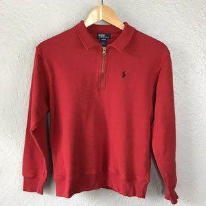 Polo Ralph Lauren Pullover Red Half Zip M 12/14